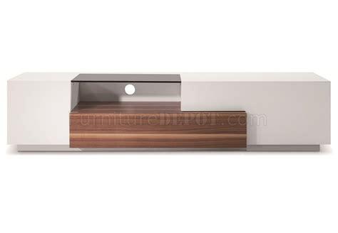J M Tv015 Tv Stand In Walnut White High Gloss 17872 | tv015 tv stand in white lacquer walnut by j m furniture
