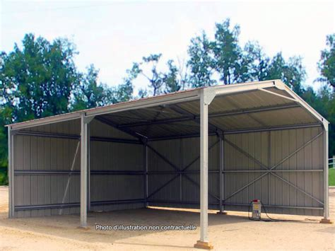 abri de jardin metal 10m2 steel garden shed 6 x 10 x 3 17m direct batiment