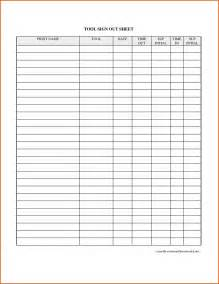 Equipment Sign Out Sheet Template by Equipment Sign Out Sheet Template Gse Bookbinder Co