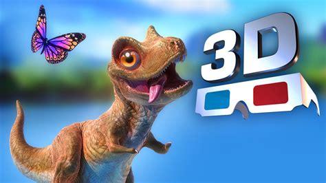 film cartoon 3d youtube dinossauros 3d animation red cyan 3d video 3d movie