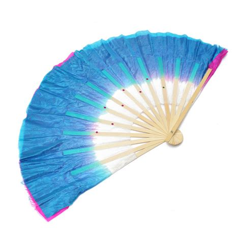 Handmade Fan - dual color silk bamboo folk fan handmade