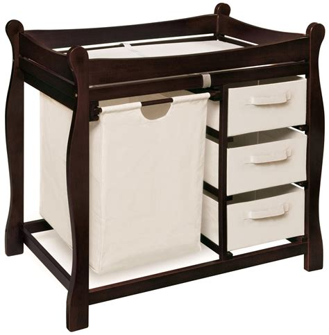 Kmart Change Table Badger Basket Espresso Sleigh Style Changing Table With Her And 3 Baskets