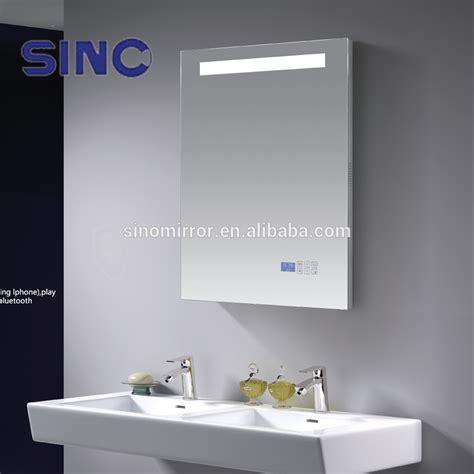 bathroom mirror with radio led bathroom mirror with mp3 bluetooth radio clock