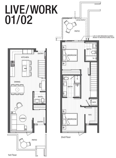 live work floor plans live work 01 02 park point