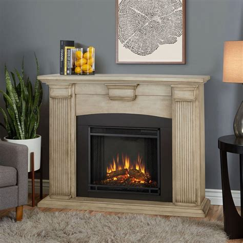 real adelaide 51 in electric fireplace in brush