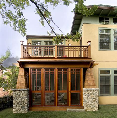 Craftsman Style Porch Porch Craftsman With Screened In | craftsman screened porch traditional porch dc metro