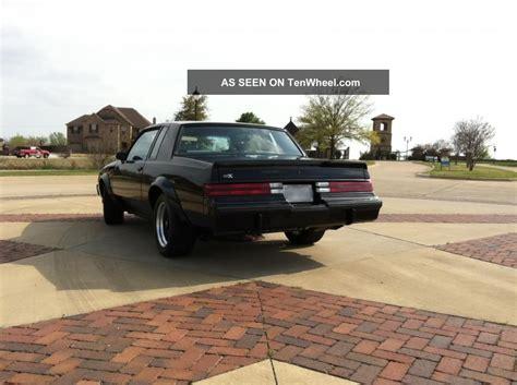 1987 buick regal gnx specs 1987 buick gnx