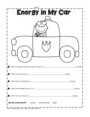 second grade sound energy worksheets second best free