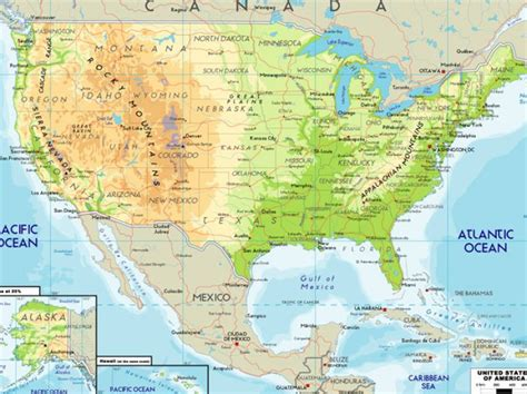 america map mountains and river map of the united states with rivers and mountains