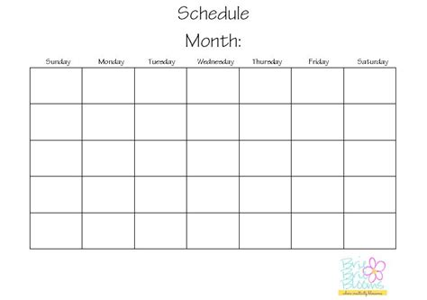 printable calendar you can write on blank calendar to write on bing images