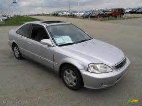 vogue silver metallic 2000 honda civic ex coupe exterior