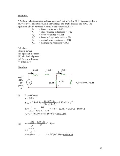 3 phase induction motor load calculation chapter 3 induction machine