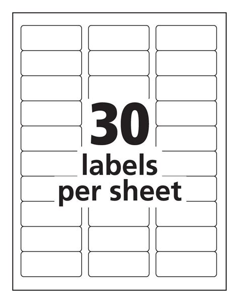 30 labels per sheet template avery templates resume