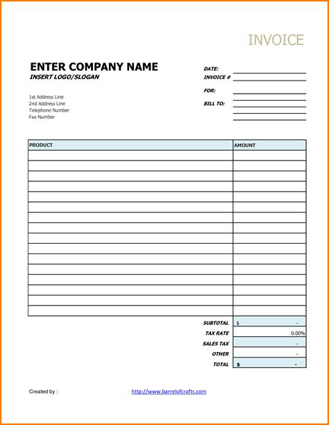 Generic Invoice Printable Invoice Template Generic Invoice Template Free