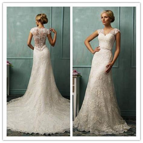 hochzeitskleid chagner ameliasposa 2014 daria donata lace cap sleeve wedding