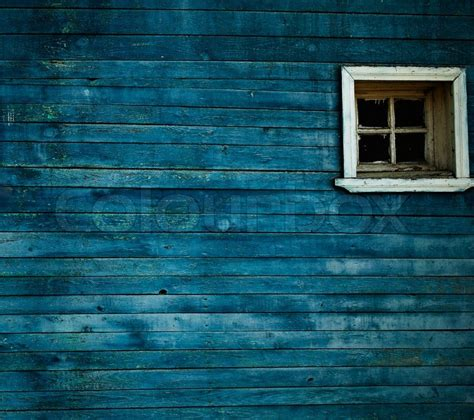 Wall 3d Wood Bw2718 Blue blue wooden wall window stock photo colourbox
