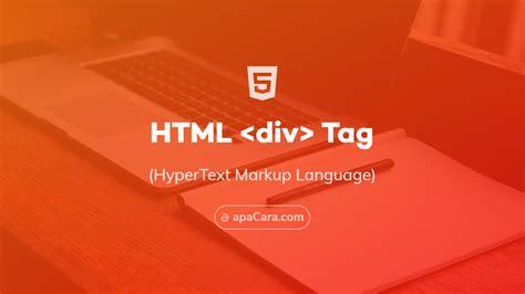 div align html5 html div tag belajar element