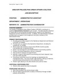 Sle Resume For Admin Assistant Position School Administrative Assistant Resume Sales Assistant