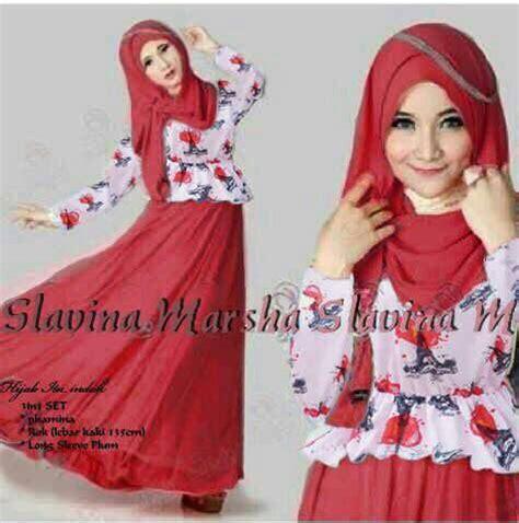 Baju Atasan Muslim Murah Gamis Murah Marbella Dres Green Lime baju dress muslim cantik quot slavina quot terbaru murah