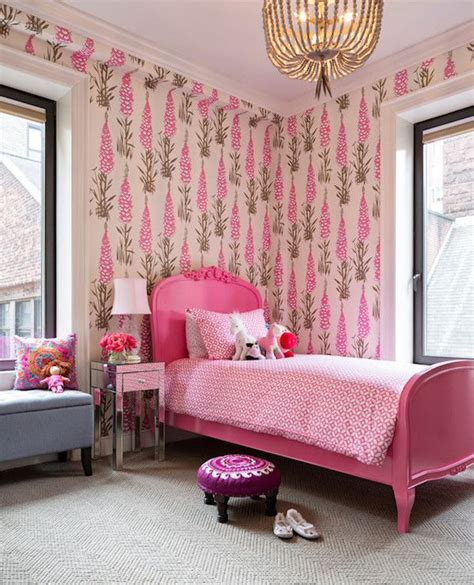 pink and brown girls bedroom with gray tufted beds 21 best images about spaces for girls on pinterest