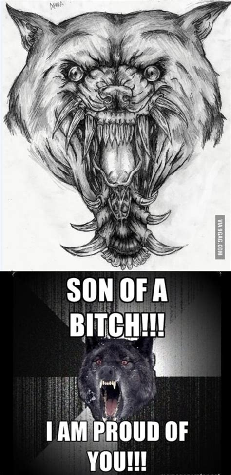Crazy Wolf Meme - meme insanity wolf drawings