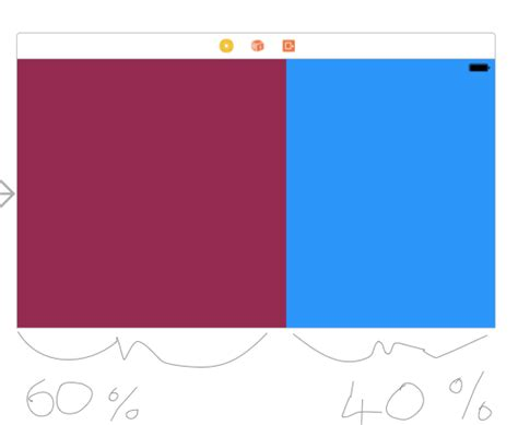 android layout width equal to height ios issue when percentage based layout view equal