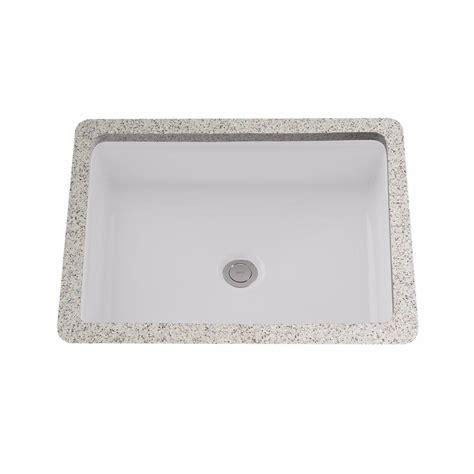 rectangular undermount bathroom sink white toto atherton 17 in rectangular undermount bathroom sink in cotton white lt221 01