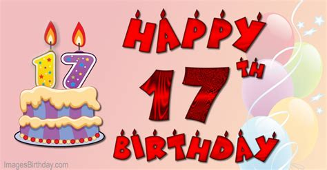 Happy Birthday Wishes For 17 Year Wishes 17 Year With Wishes Happy Birthday Picture