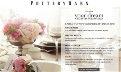 Pottery Barn Sweepstakes Winner - fred meyer wedding registry 2015 home design ideas