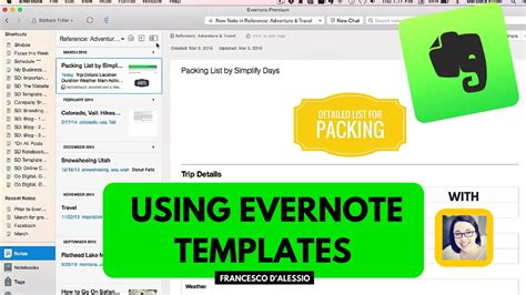 evernote templates using evernote templates workshop from simply days