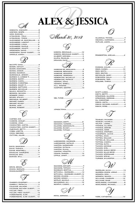 reception seating chart template wedding seating chart wedding seating reception template