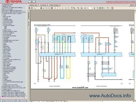 28 wiring diagram toyota picnic toyota avensis