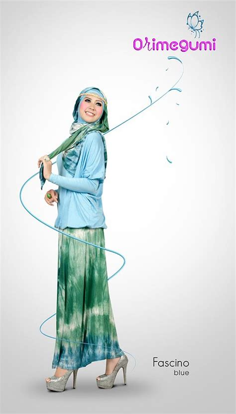 Dress Ayla By Cadee Collection new fascino blue baju muslim gamis modern
