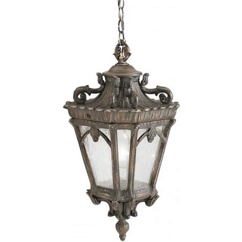 Vintage Tea Light Holders by Hanging Front Door Light In Ornate Bronze Gothic Style