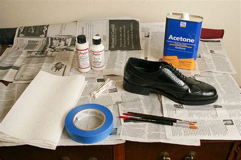how to paint shoes painting leather shoes or other leather stuff 3 steps