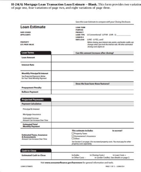 Estimate Home Loan by Loan Estimate Form The Loan Estimate Trid Loan Estimate