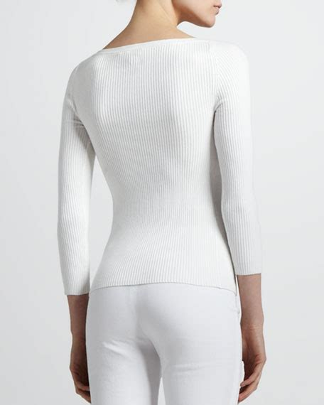 boat neck ribbed sweater michael kors ribbed boat neck sweater