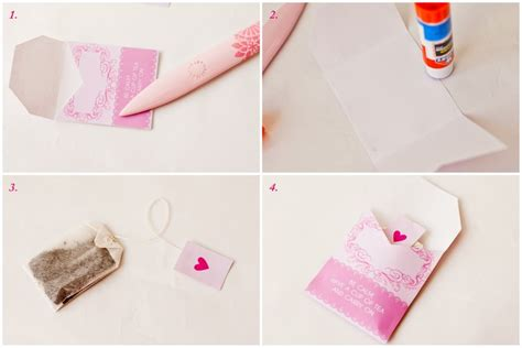 How To Make Paper With Tea Bags - diy baby shower tea favor free printable