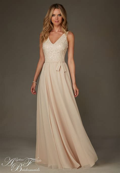 beaded chiffon bridesmaid dresses bridesmaids dresses by feccenda chiffon with
