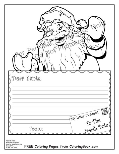free coloring pages of letters to santa coloring pages free online coloring pages santa letter
