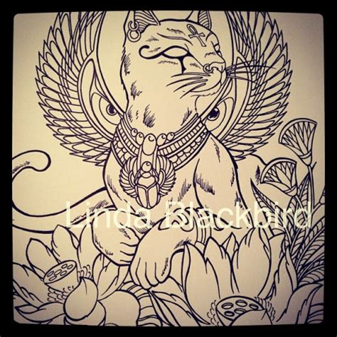 lotus egyptian tattoo 10 awesome egyptian cat wings images interesting