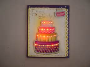 cards with lights led light up birthday greeting cards buy lighting