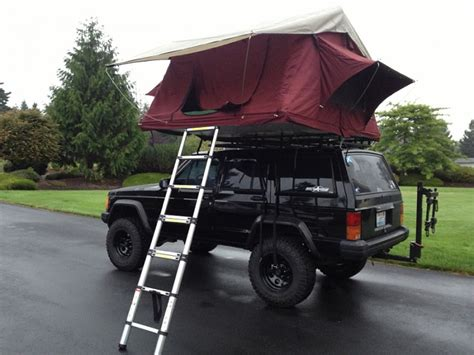Jeep Xj Roof Top Tent Jeep Xj Tent Buddies Rooftop Tent He Just