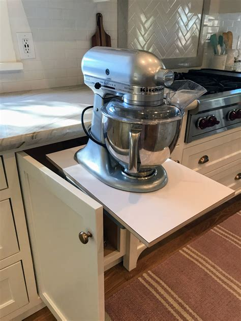 Base Mixer Shelf by New Classic White Kitchen Renovation Inspiration