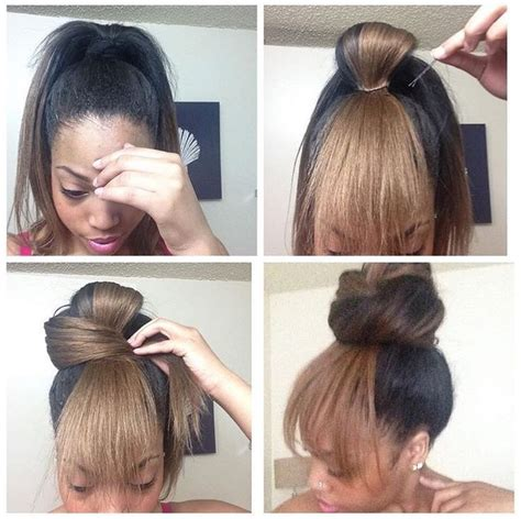 bang and bun hairstyles cute bun w quot bangs quot great for bad hair days hair
