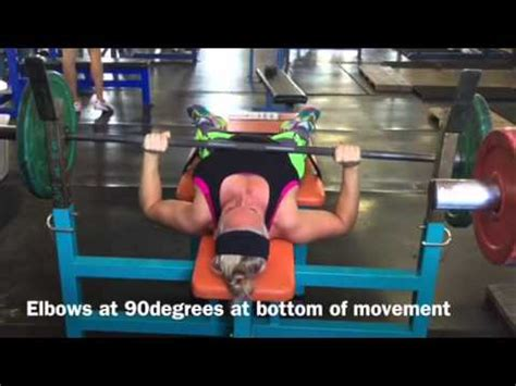 bench press posture bench press specifics line of travel arm position youtube