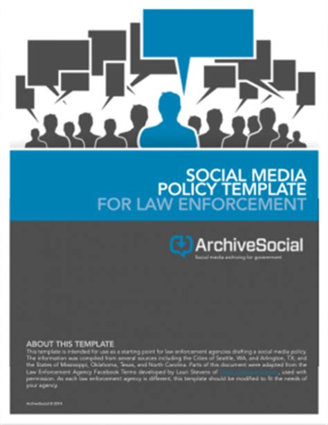Archiving For Law Enforcement Social Media Archivesocial Social Media Policy Template For Enforcement