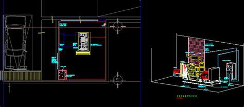 emergency electrical generator dwg plan  autocad