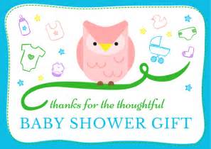 baby shower thank you cards free printable cards