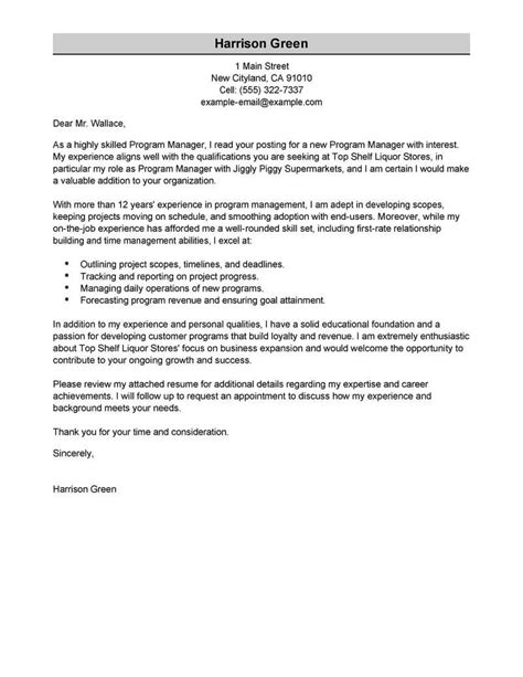 applying for management position cover letter best management cover letter exles livecareer